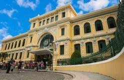 Saigon zentrale Post, Vietnam Lizenzfreie Stockfotografie