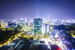 Saigonl на ноче, Вьетнаме Стоковое Изображение