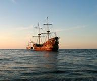 Sail. Tour boat sailing ships on the Baltic Sea Stock Image