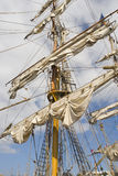 Sail. S and masts of the ing classic Royalty Free Stock Photos
