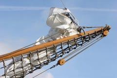 Sail. Foresail of a historic sailship royalty free stock image