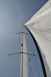 Sail. In the wind on the boat Stock Photos