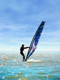 Sail. Surfing on sea of Azov, summer Royalty Free Stock Photography
