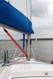 Sail. Part of a sailing boat Royalty Free Stock Image