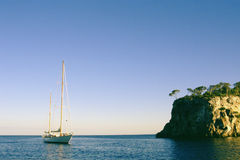 Sail. Ing in Illes Balears royalty free stock photos