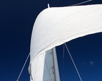 Sail against Blue Sky Royalty Free Stock Photo