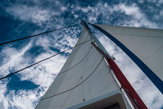 Sail against the sky Royalty Free Stock Images