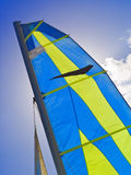 Sail against sun Royalty Free Stock Images