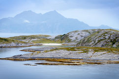 Sail along the fjords towards Bodo, Norway II Stock Photography