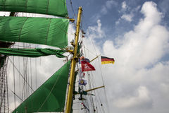 Sail in Amsterdam 2015 Alexander von Humboldt 2 Royalty Free Stock Photo