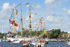 Sail Amsterdam, Dewaruci (Indonesia) Royalty Free Stock Photo