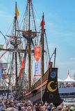 SAIL Amsterdam 2015 is an immense flotilla of Tall Ships, maritime heritage, naval ships and impressive replicas. Amsterdam, Netherlands - August 20: SAIL Royalty Free Stock Images