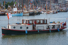SAIL Amsterdam 2015 is an immense flotilla of Tall Ships, maritime heritage, naval ships and impressive replicas. Royalty Free Stock Photo