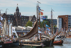 SAIL Amsterdam 2015 is an immense flotilla of Tall Ships, maritime heritage, naval ships and impressive replicas. Amsterdam, Netherlands - August 20: SAIL Stock Photos