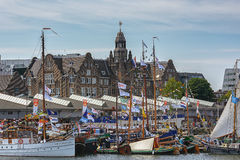 SAIL Amsterdam 2015 is an immense flotilla of Tall Ships, maritime heritage, naval ships and impressive replicas. Stock Photos
