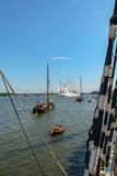 SAIL Amsterdam is an immense flotilla of Tall Ships. Amsterdam, Netherlands - August 20: SAIL Amsterdam 2015 is an immense flotilla of Tall Ships, maritime Royalty Free Stock Photo