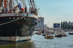 SAIL Amsterdam is an immense flotilla of Tall Ships Stock Image