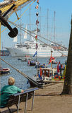 SAIL Amsterdam is an immense flotilla of Tall Ships Royalty Free Stock Image