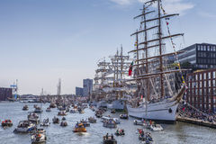 Sail Amsterdam. Parade of tallship which happens every 5 years in Amsterdam royalty free stock photo