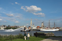 Sail in Antwerp Royalty Free Stock Image