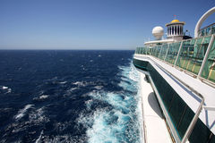 Sail away. Sailing on a cruise ship  side view Stock Images