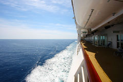 Sail away. Sailing on the open sea with  a cruise ship Stock Photo
