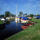 Sail away. Boats on Hicklin Broad Norfolk UK stock photos