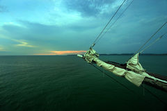 Sail away into the evening Royalty Free Stock Images