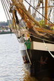 Sail away - historic Irish tall ship Stock Image