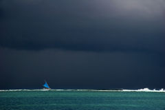 Sail in the bad weather Royalty Free Stock Photography