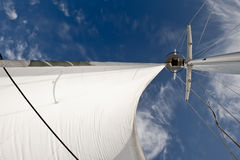 Sail billowing in wind Royalty Free Stock Photos
