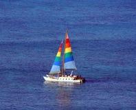 Sail Boat. Off Waikiki Beach, Honolulu, Hawaii Royalty Free Stock Photography