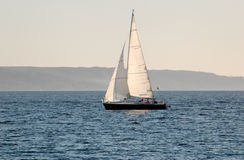 Sail Boat. A sail boat, going under sail in Oslo Fjord Royalty Free Stock Image