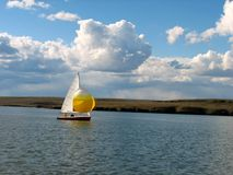 Sail Boat. Lake Sailing Stock Image