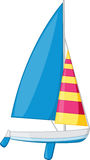 Sail boat. An illustration of a sail boat royalty free illustration