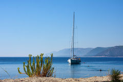 Sail boat, Adriatic sea near Dubrovnik, Croatia Stock Images