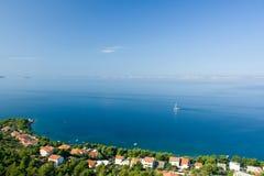 Sail boat on Adriatic sea scene Royalty Free Stock Photography