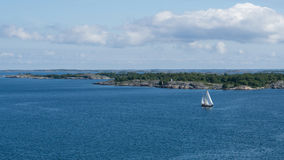 Sail boat in the archipelago Stock Image