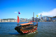 Sail boat in asia city Stock Image