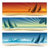 Sail boat background Royalty Free Stock Photography