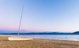 Sail Boat Beach Stock Image
