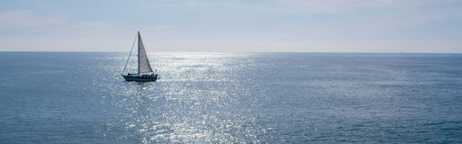 Sail boat on beautiful day Stock Image