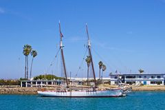 Sail boat The Bill of Rights. Historic sail boat The Bill of Rights docked in Oxnard California at Channel Islands Harbor Marina stock photos