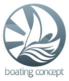 Sail boat circle concept Stock Photography
