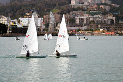 Sail boat competition Stock Photos