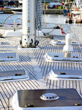 Sail boat deck Royalty Free Stock Images