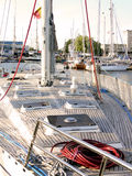 Sail boat deck Stock Images
