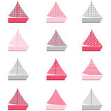 Sail Boat design pattern Stock Images