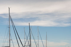 Sail boat dorsal mast Royalty Free Stock Photos