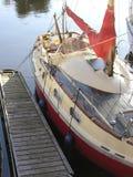 Sail boat  drop anchor Stock Images